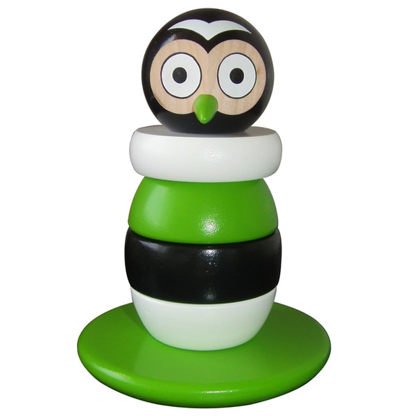 Discoveroo Magnetic Wooden Stacking Owl
