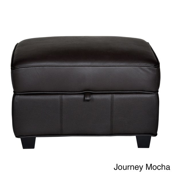 Houston Leather Storage Ottoman