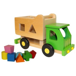 Discoveroo Wooden Sort 'n Tip Garbage Truck