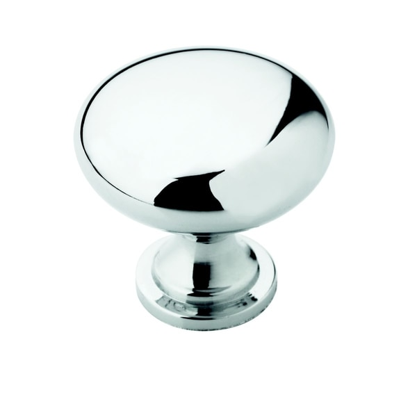 Amerock Traditional Polished Chrome Round Cabinet Knob (Pack of 5)