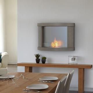 Real Flame 'Meridian' Pebble Grey Wall Fireplace
