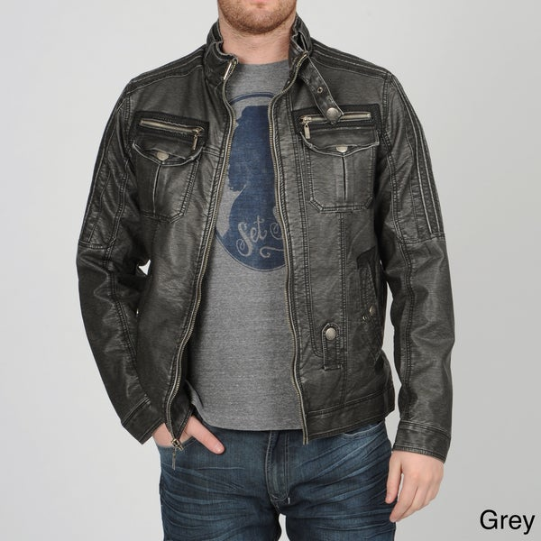 X-RAY Jeans Men's PU Moto Jacket - Overstock™ Shopping ...