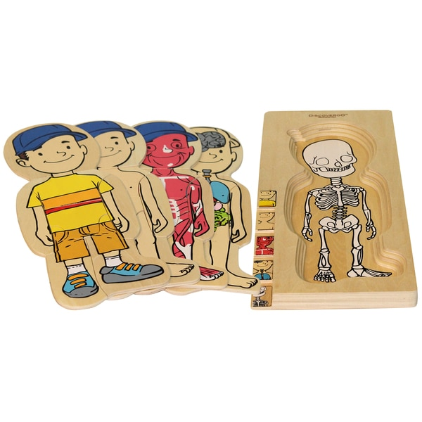 Discoveroo 5-layer Boy Wooden Puzzle