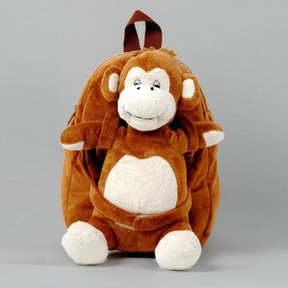Tag Along Teddy Small Plush Monkey Backpack