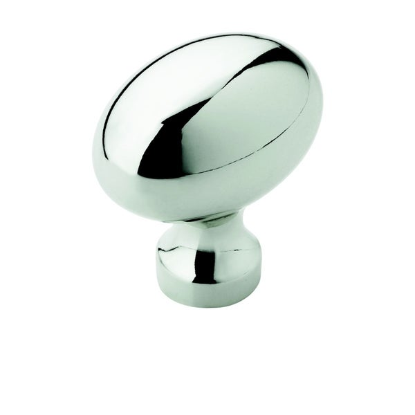 Amerock Oval Polished Chrome Cabinet Knob (Pack of 5)