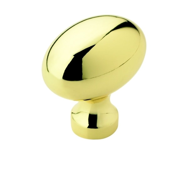 Amerock Oval Polished Brass Cabinet Knob (Pack of 5)