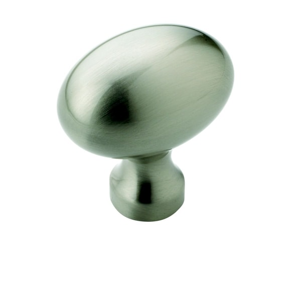 Amerock Oval Satin Nickel Cabinet Knob (Pack of 5)