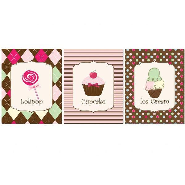 'Sweet Trio' Print Art