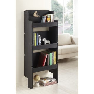 Furniture of America Black 3-piece Stackable Display Shelf