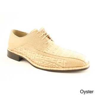 Island Footwear Men's '1217' Faux Croc Dress Shoes