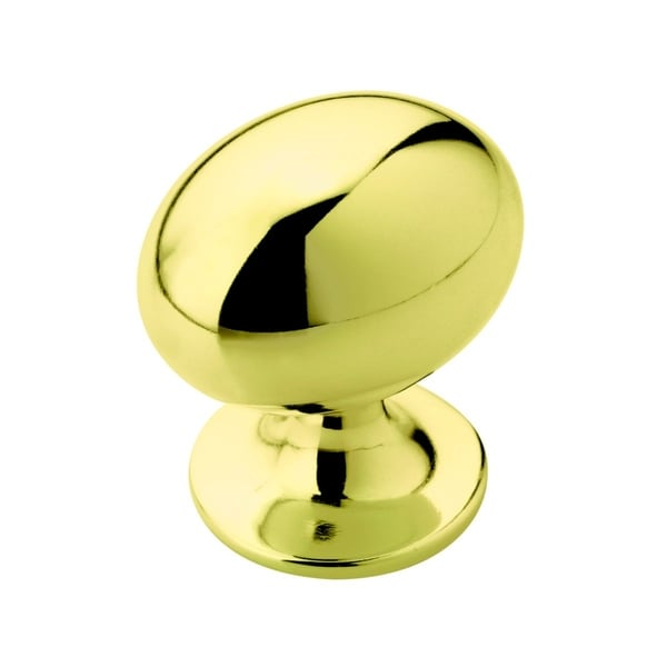 Amerock Oversized Oval Polished Brass Cabinet Knob (Pack of 5)