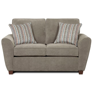 'Hobbs' Grey Chenille Loveseat with Pillows
