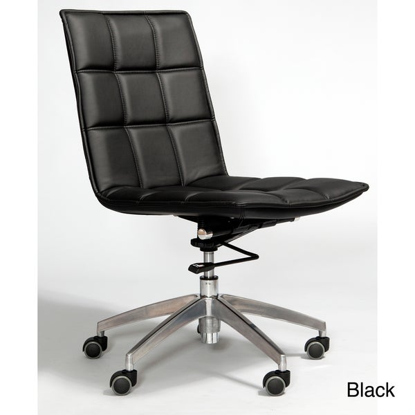 Gates Leatherette Adjustable Height Swivel Office Chair