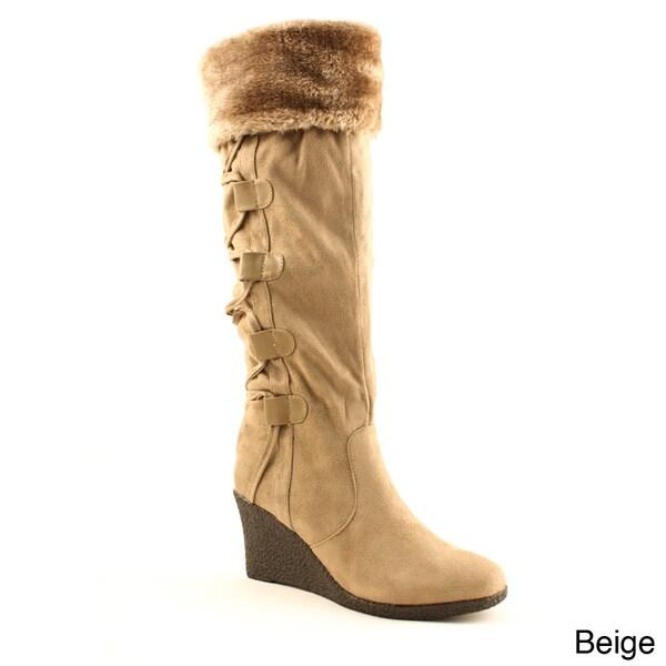 Kimera Women's 'Selma-1' Back Lace-up Knee-high Boots