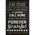 Jennifer Pugh 'Home Forever Grateful' Paper Print (Unframed)