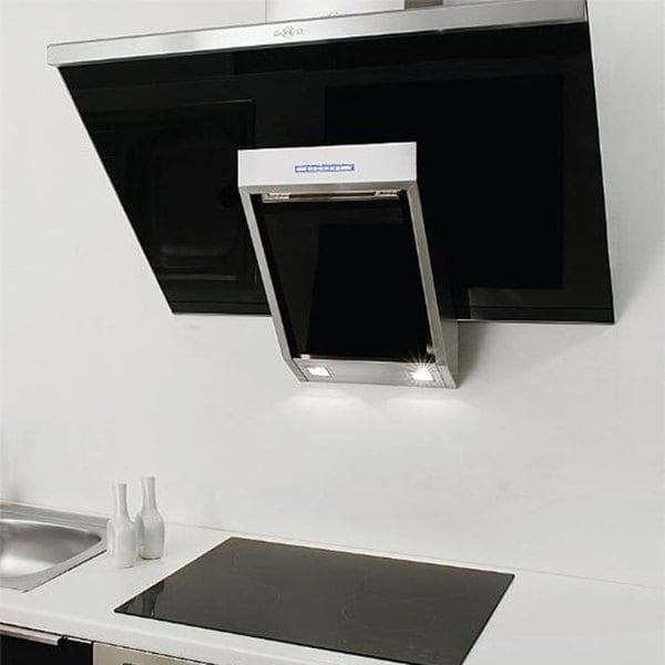 NT AIR Stainless Steel Black Glass 24-inch Range Hood