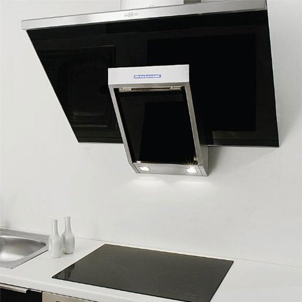 NT AIR Stainless Steel Black Glass 24-inch Range Hood 10643346