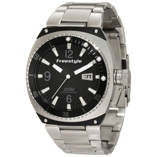Freestyle Men's 'Trench' White/ Black Steel Quartz Watch