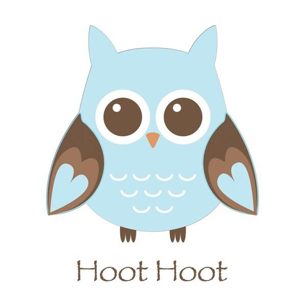 'Blue Owl Hoot' Print Art