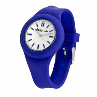 Pixelmoda Kids' 'Zero' Blue Silicone Watch