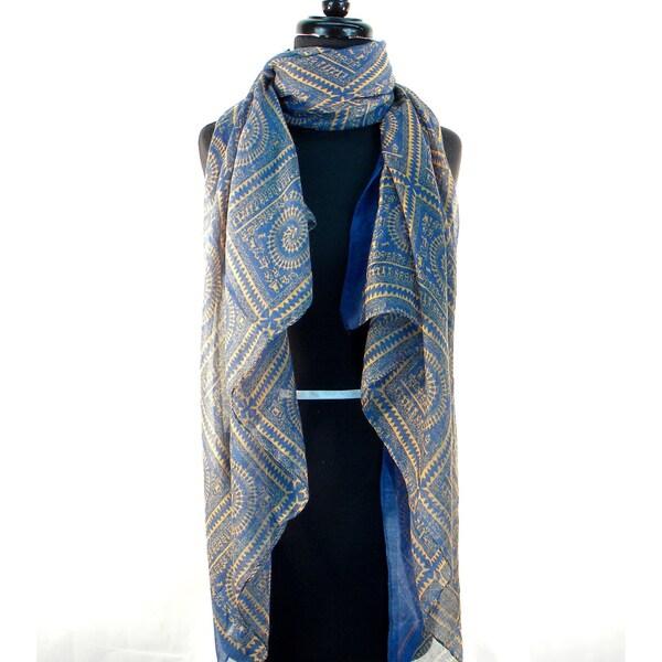 Chakra Print Fashion Scarf/ Wrap