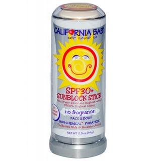 California Baby No Fragrance SPF 30+ 0.5-ounce Sunscreen Stick