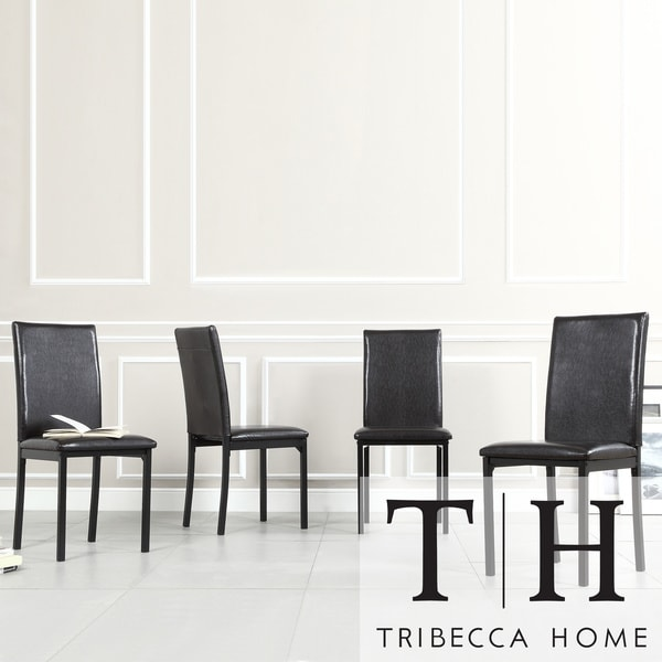... Upholstered Dining Chair Set of 4 Room Furniture Modern Arm  eBay