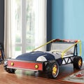 Tribecca Home Kiran Toddler's Red Race Car Twin-size Plateform Bed