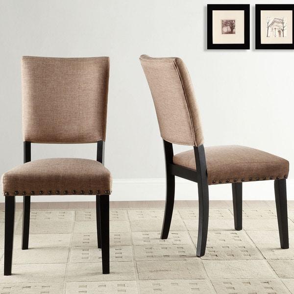 Presidio rustic brown vintage industrial modern dining for Modern industrial dining chairs