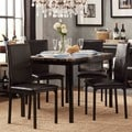 TRIBECCA HOME Darcy Faux Marble Top Black Metal 5-piece Casual Dining Set