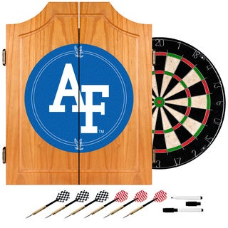Officially Licensed NCAA Wood Dart Cabinet Set