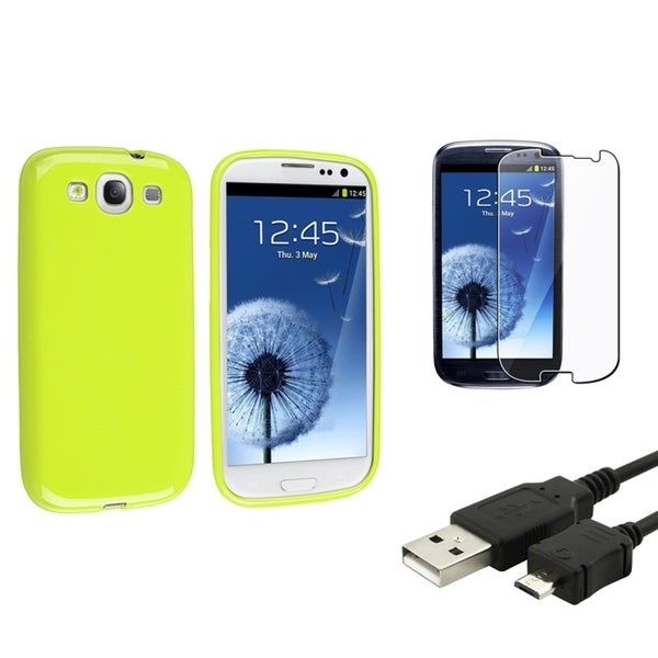 BasAcc Case/ USB Cable/ LCD Protector for Samsung Galaxy S III/ S3
