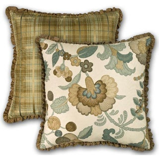Rose Tree 'Bradford' Green Floral Throw Pillow