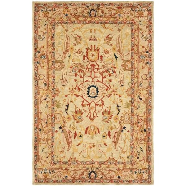 Safavieh Hand-made Anatolia Ivory Hand-spun Wool Rug (6u0026#39; x 9u0026#39;) - 15123311 - Overstock.com ...