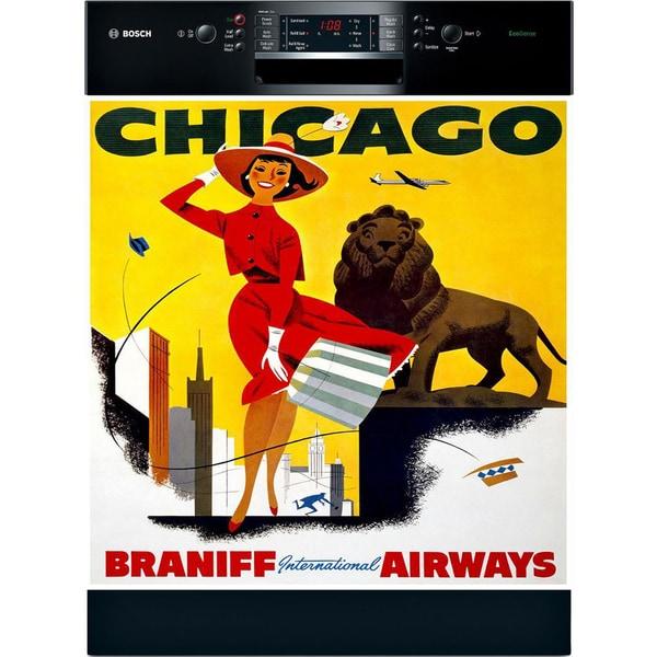 Appliance Art Vintage Chicago Dishwasher Cover