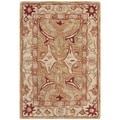 Safavieh Hand-made Anatolia Straw Beige/ Ivory Hand-spun Wool Rug (2' x 3')