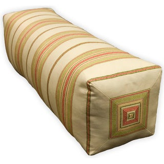 Rose Tree 'Miramar' Beige Striped Neckroll Pillow