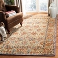 Hand-made Anatolia Green/ Gold Hand-spun Wool Rug (8' x 10')