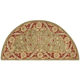Safavieh Handmade Ancestry Green/ Red Hand-spun Wool Rug (2'6 x 5' Hearth)