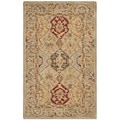 Hand-made Anatolia Diamonds Hand-spun Wool Rug (3' x 5')