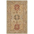 Hand-made Anatolia Diamonds Hand-spun Wool Rug (4' x 6')