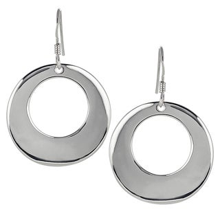 Tressa Collection Sterling Silver Open Circle Earrings