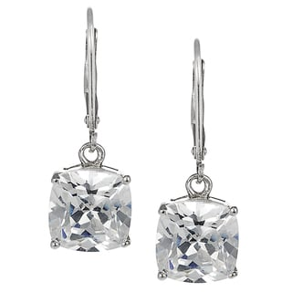 Journee Sterling Silver Cubic Zirconia Drop Earrings