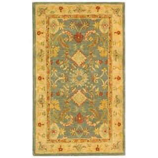 Safavieh Handmade Legacy Light Blue Wool Rug (2' 3 x 4')