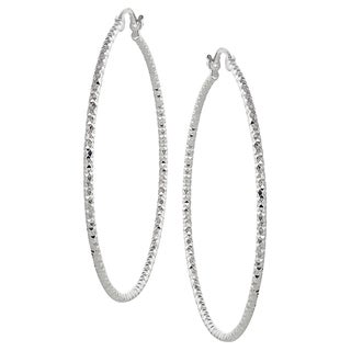 Tressa Collection Sterling Silver Hoop Earrings