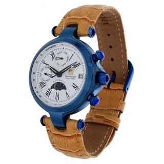 Steinhausen Women's 'Three Eyes' Blue Steel Automatic Watch