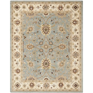 Safavieh Handmade Kerman Light Blue/ Ivory Gold Wool Rug (6' x 9')