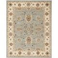 Handmade Kerman Light Blue/ Ivory Gold Wool Rug (6' x 9')
