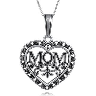 Journee Collection Collectcion Sterling Silver Mom Necklace