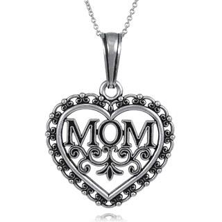 Tressa Collectcion Sterling Silver Mom Necklace
